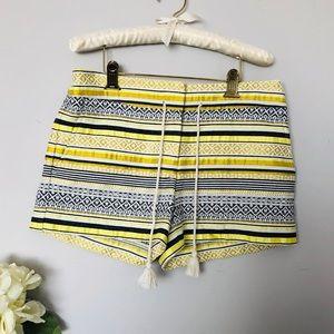 Loft   Embroidered Shorts Sz 6